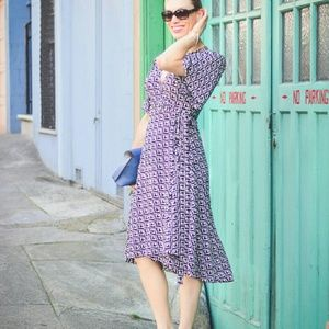 Octavia Saffron Wrap Dress