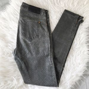 Zara printed stretch jeans
