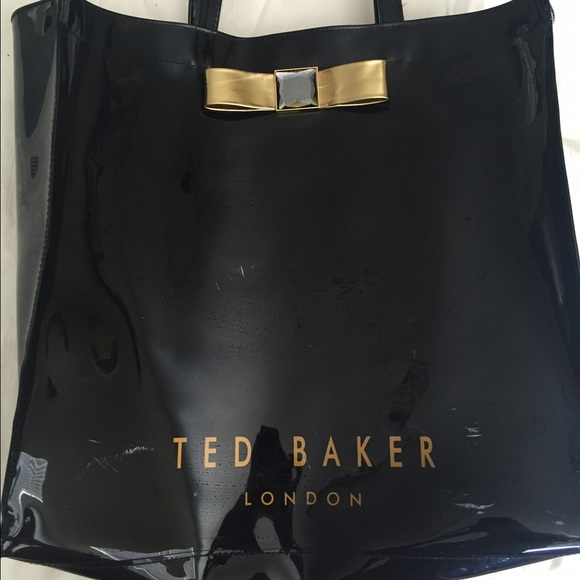 14333769fed0 SALE ⚡ TED BAKER LONDON vinyl bow tote bag. M 5762f81d3c6f9f30b40085d2