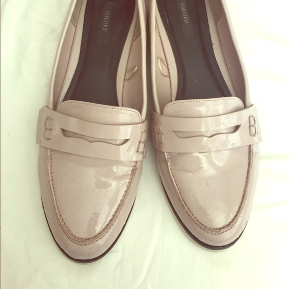 d5534ccaced Forever 21 Shoes - BLUSH forever 21 patent leather penny loafer 9 F21