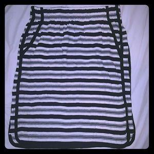 LOFT black & white striped Skirt