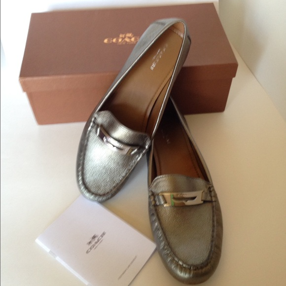 2bac5c99f64 SALE!❤️Coach Olympia Gunmetal Loafers Shoes