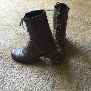 Cathy Jean Brown Combat Boots