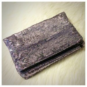 French Connection Large Sequined Clutch
