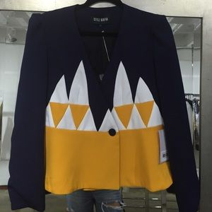 Jacket Yellow, White and Blue