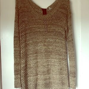 Sparkly gold tunic sweater