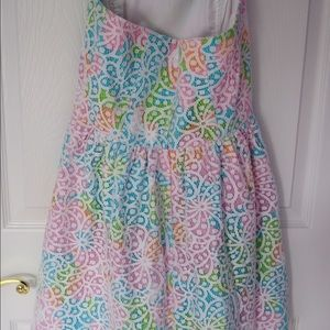 Strapless Floral Eyelet Lilly Pulitzer Dress