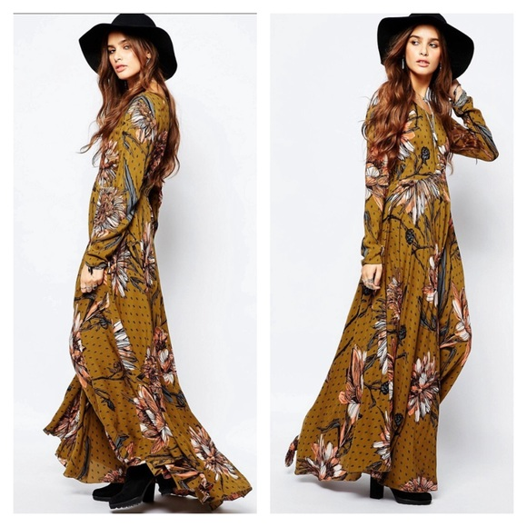 78e91fe6df2c Free People Dresses & Skirts - Free people first kiss golden rod combo maxi  dress