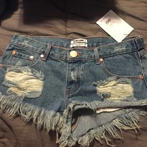 One Teaspoon Trashwhore Shorts size 28
