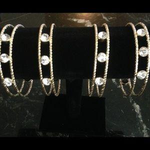 🆕 Gold and Rhinestone Bracelet