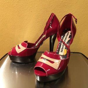 Harajuku Lovers Shoes - Gwen Stefani Red Harajuku Lovers Platform Heels