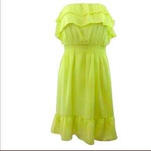 SaleGianni bini Neon silky strapless  dress