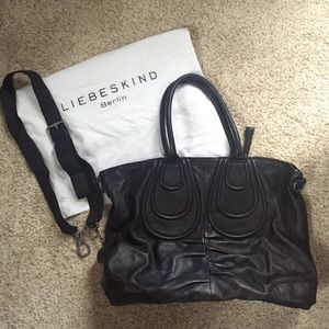 Liebeskind Handbags - Liebeskind Large Black Leather Satchel