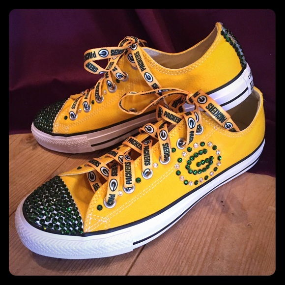 f6e4000f Green Bay Packer Bling Converse