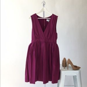 Adam Lippes Magenta Fit & Flare Dress