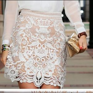 Dresses & Skirts - baroque crochet skirt