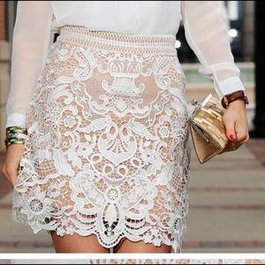 baroque crochet skirt