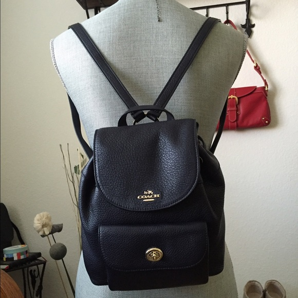 35a0515210864 MINI BILLIE BACKPACK IN PEBBLE LEATHER