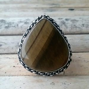 Jewelry - 🔥Clearance🔥Tiger's Eye Silver Ring