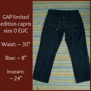 88% off GAP Denim - Gap Capris from Kylie's closet on Poshmark