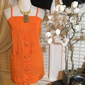 Esley Tops - ESLEY LONG ORANGE TOP