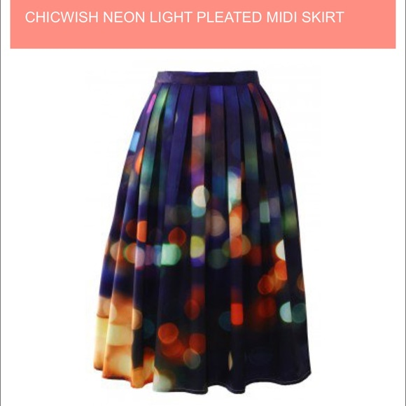 Chicwish Skirts - Chicwish Neon Light Midi Skirt