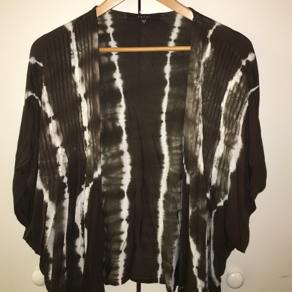 73% off Fever London Sweaters - Olive Green Tie-Dye Shrug from ...