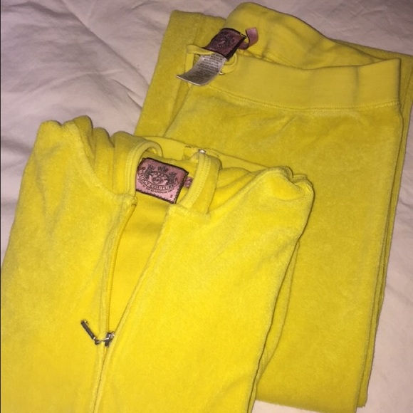 Juicy Couture Pants Jumpsuits Perfect Condition Yellow Tracksuit Poshmark