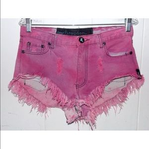 Pink One Teaspoon Shorts