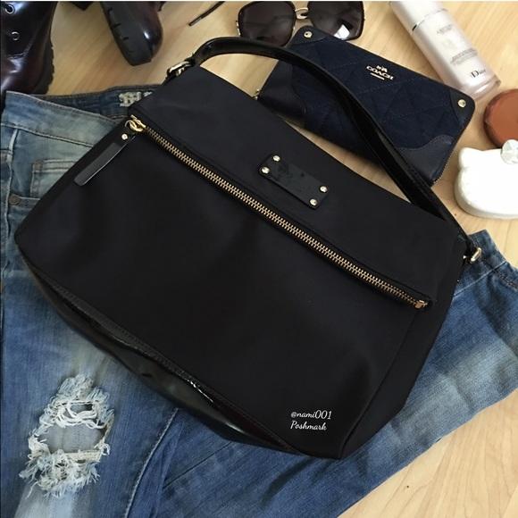 kate spade Handbags - Kate Spade Nylon Minka Large Crossbody Hobo Purse 8711deb45d0fc