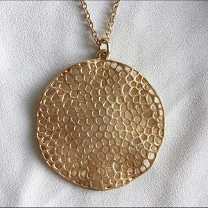 Filigree Gold Circle Necklace