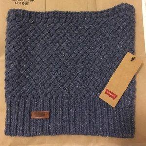 Levi's weave cowl neck scarf