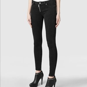 All Saints Denim - AllSaints skinny black track jeans