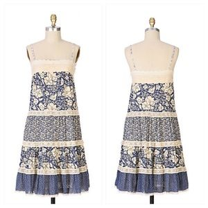 Anthropologie Goodbye Kiss Dress