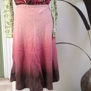 Kate Hill Dresses & Skirts - SALE!!! Pink/Brown ombre flirty skirt