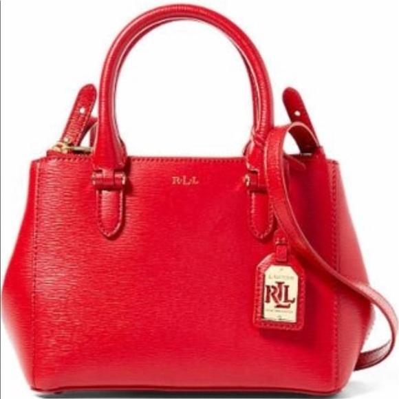 Ralph Lauren Newbury Mini Double Zip Satchel -Red.  M 58eccda97fab3adbd9000e68 6dac9068ac