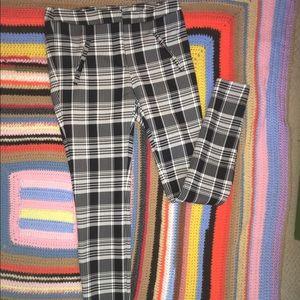 Zara Plaid Dress Pants