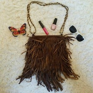 Urban Outfitters Handbags - 🎉HP🎉 Brown fringe bag
