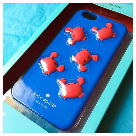 new product c9d0b 082a3 ♠️ NWT Kate Spade Silicone iPhone 6 Crabs Case ♠️
