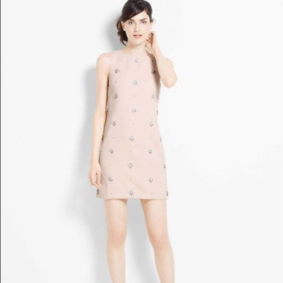 20855e0e2a98 Ann Taylor Dresses & Skirts - Ann Taylor Petite Blush Jeweled Shift Dress 4P