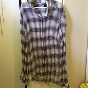 Sheer urban outfitters flannel