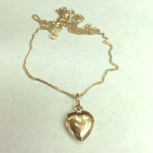 14k Gold Chain & 14k Gold Heart Pendant