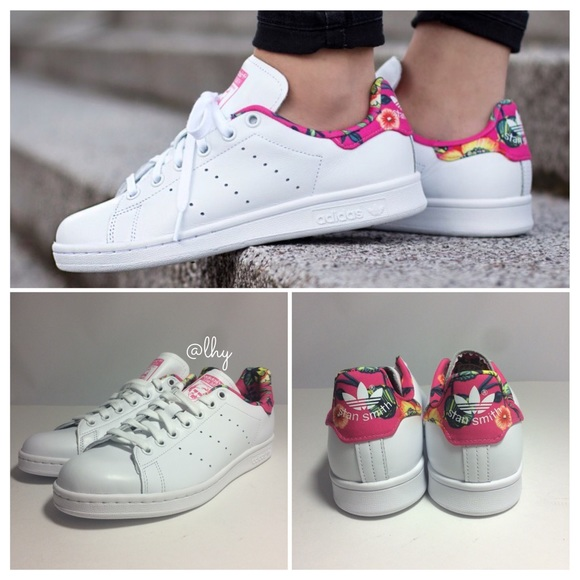 64f86fd797788 Adidas Shoes - ADIDAS STAN SMITH FLORAL SNEAKERS - 8