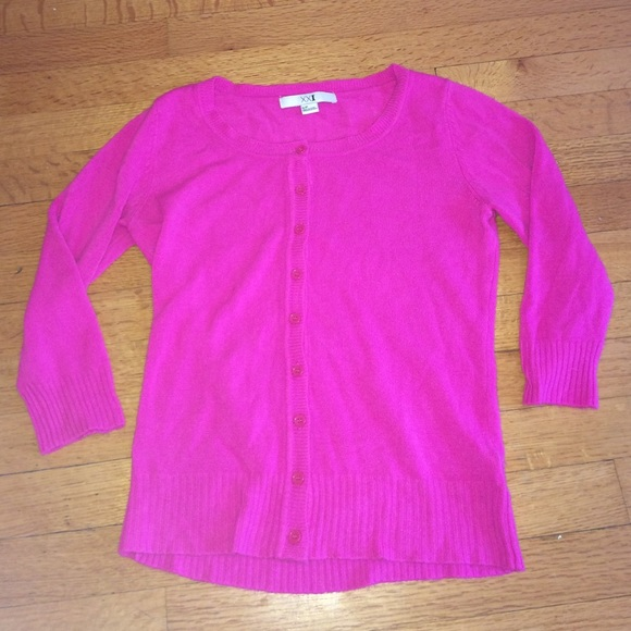 Forever 21 Sweaters New Hot Pink Cardigan Sweater Poshmark