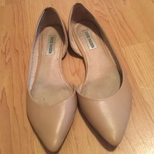 dc69218861e Steve Madden Elusion Nude Pointed Toe Flats