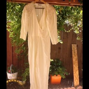 "Vintage 90's Jumper cream one piece 1990""s"