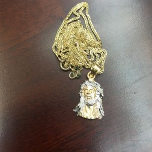 Jewelry - 14k Gold Chain & 14k Gold Jesus Pendent