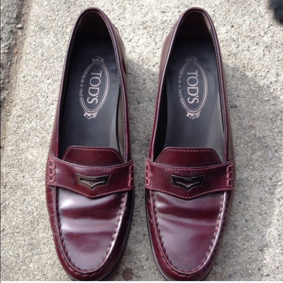 usa cheap sale details for stylish design TOD'S Burgundy Loafers