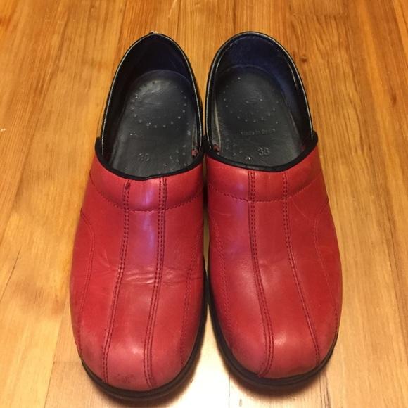 4894a4a8859 Dansko Shoes - Red Dansko Sport Clogs