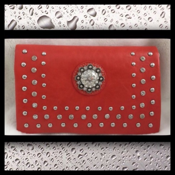 Rustic Couture Bags - Rustic Coutures Studded Clutch Wallet